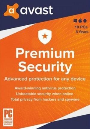 Avast Premium Security 10 PCs 3 Years