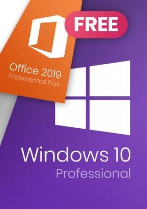 Windows 10 Pro (+Microsoft Office 2019 Pro for Free)