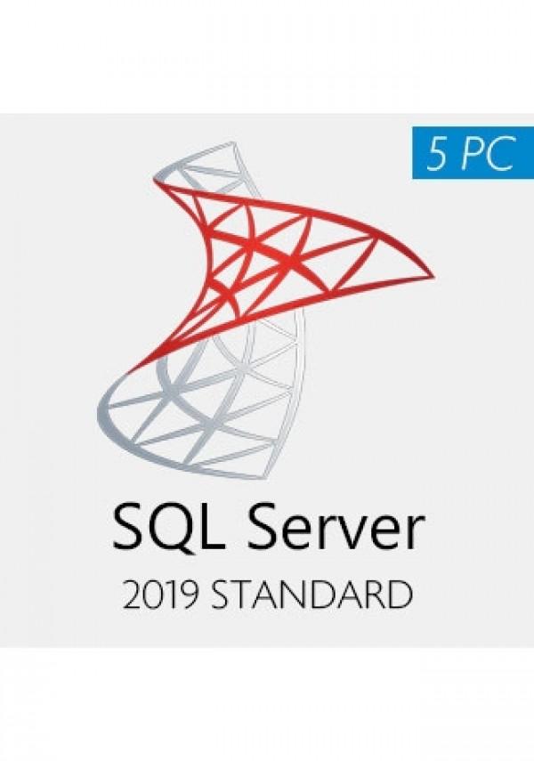 SQL Server 2019 Standard For 5PCs
