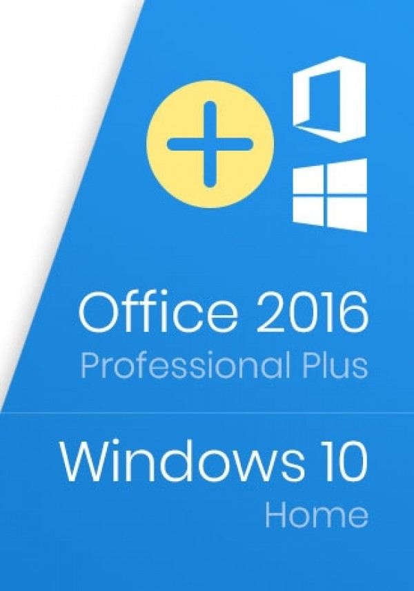 Windows 10 Home Key and Office 2016 Professional Plus Package