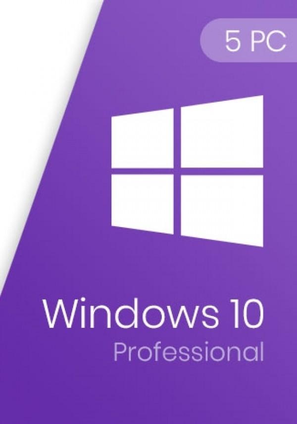 Windows 10 Pro Product Key 5 PCs